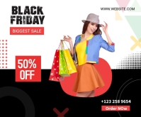 Black Friday Sale social Medium Rectangle Rettangolo medio template