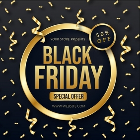 BLACK FRIDAY SALE SQUARE POST TEMPLATE Quadrado (1:1)