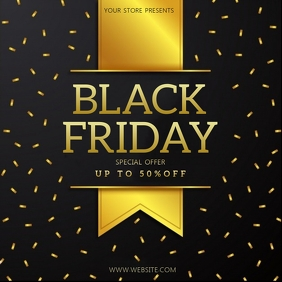 BLACK FRIDAY SALE SQUARE POST TEMPLATE