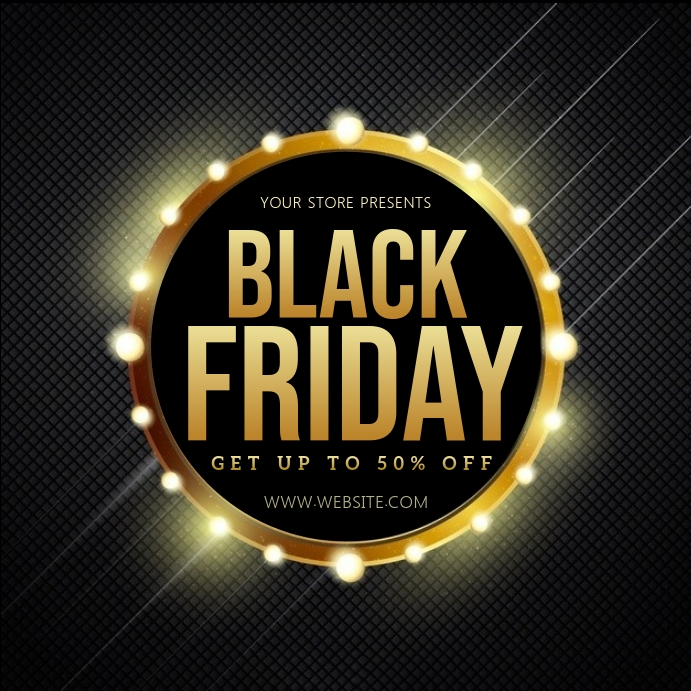 BLACK FRIDAY SALE SQUARE POST TEMPLATE Vierkant (1:1)