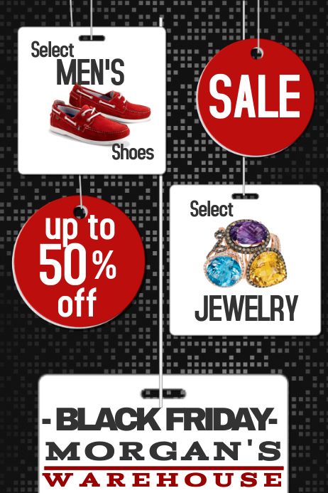 BLACK FRIDAY sale store shop retail business tags price