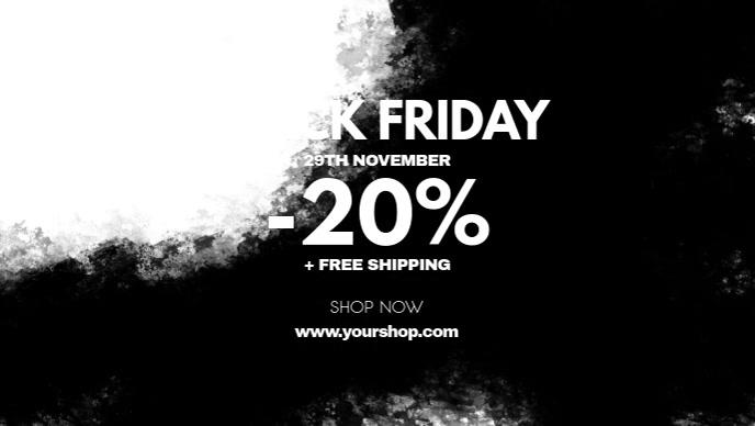 Black Friday Sale Stroke Header Cover Video