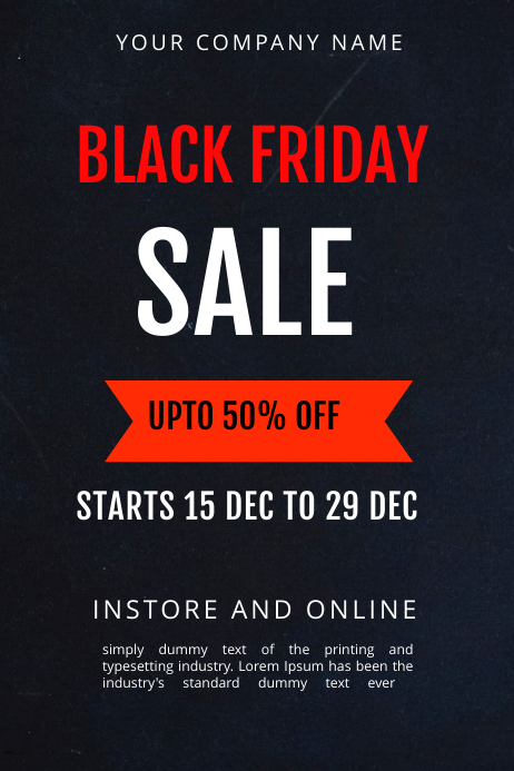 BLACK FRIDAY SALE TEMPLATE Banner 4' × 6'