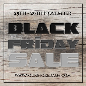 Black friday sale template instagram post Квадрат (1 : 1)