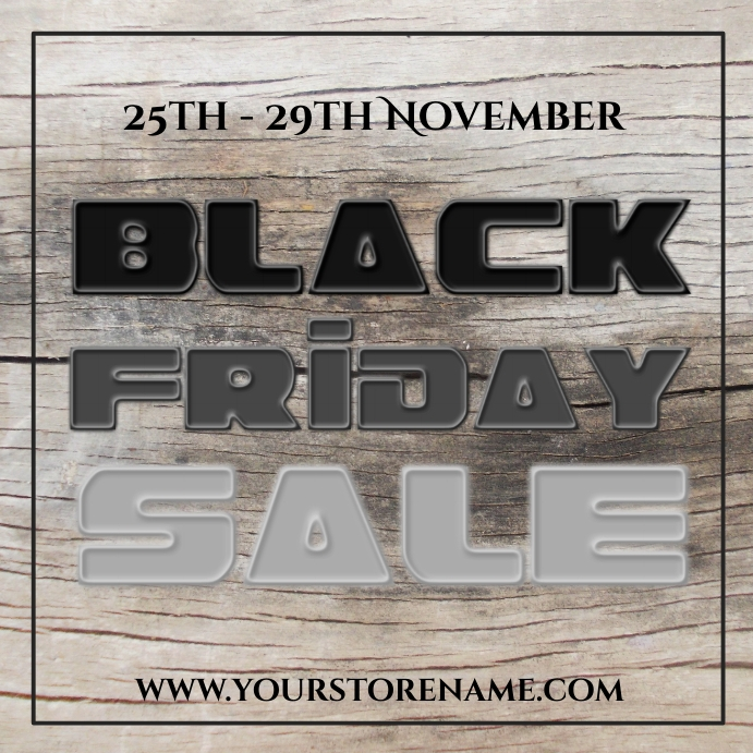 Black friday sale template instagram post Square (1:1)