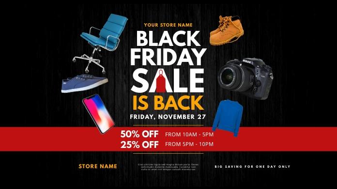 Black Friday Sale Twitter Post Wpis na Twittera template