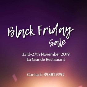Black Friday sale VIDEO Ad