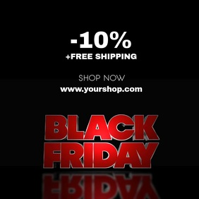 Black Friday Sale Video Advert Discount shop