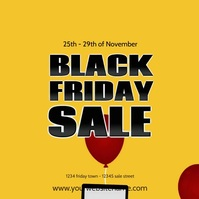 Black Friday Sale Video Balloons Discount Ad