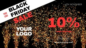 Black Friday Sale Video Cover Advert Gold