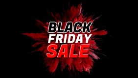 Black Friday Sale Video Cover Color Explosion