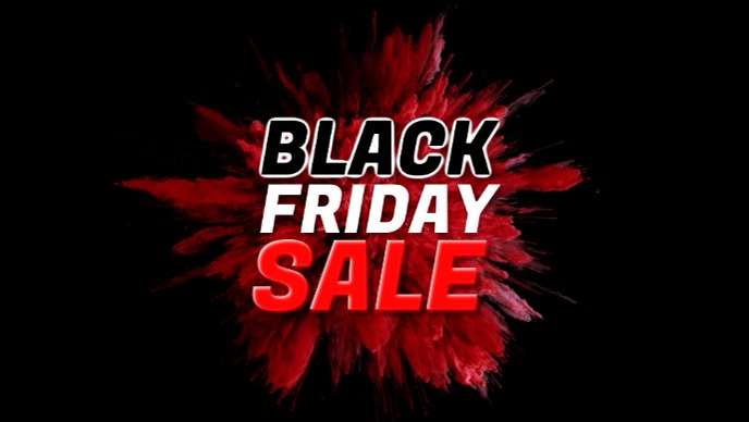 Black Friday Sale Video Cover Color Explosion template