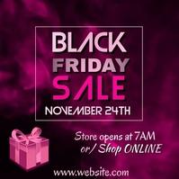 Pink Black Friday Sale Video Persegi (1:1) template