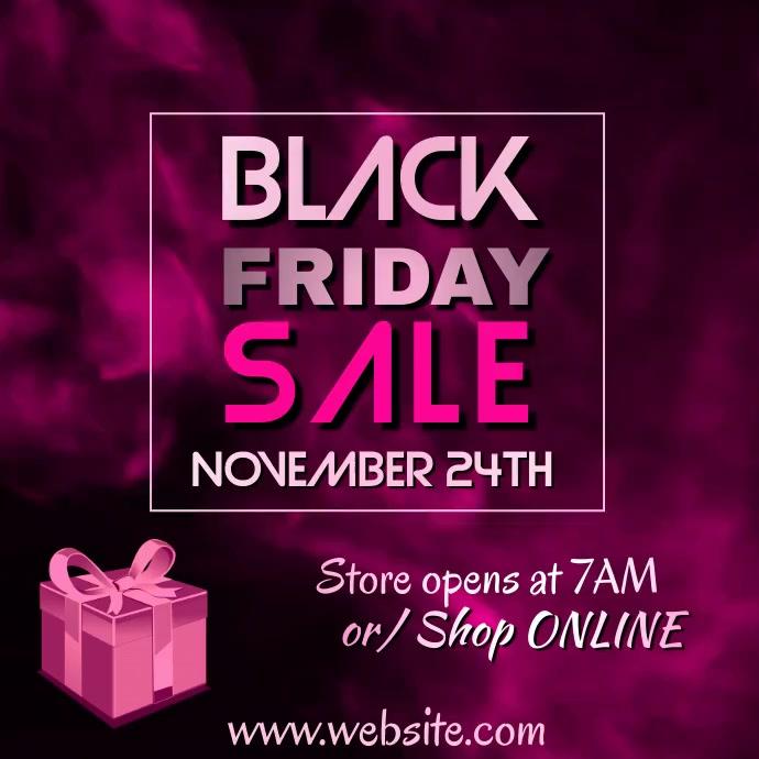 Black Friday Sale Video Persegi (1:1) template