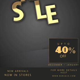 Gold Black Friday Sale Video Template