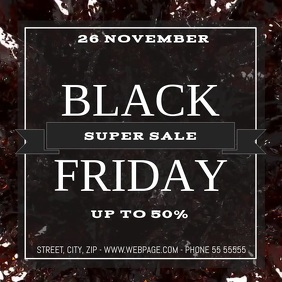 Black friday sale video flyer template