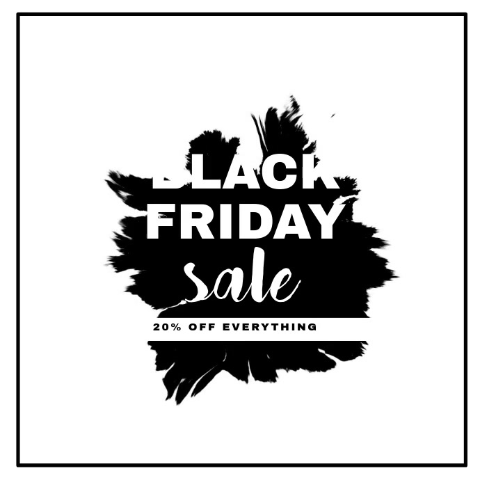 Black Friday Sale Video Template for Instagram Isikwele (1:1)