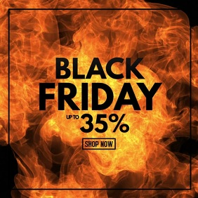 Black Friday Sale Video Hot Deals Fire Advert