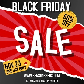 Black Friday Sale Video Template Square (1:1)