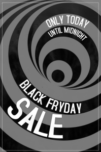 Black Friday Sale Poster with optical illusion