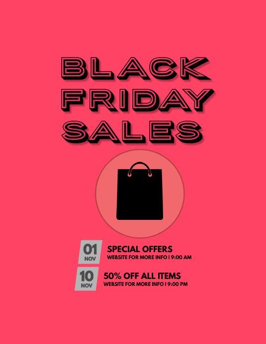BLACK FRIDAY SALES Flyer (US Letter) template