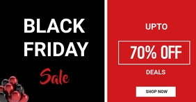 Black Friday Sales flyer Imagem partilhada do Facebook template