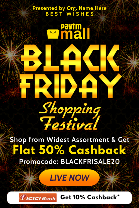 Black Friday Shopping Email Template Poster