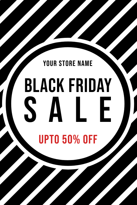 BLACK FRIDAY STORE BANNER POSTER FOR SALE template