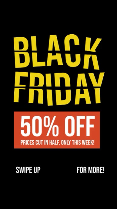Black Friday Story Template