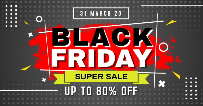 Black Friday Super Sale Image partagée Facebook template
