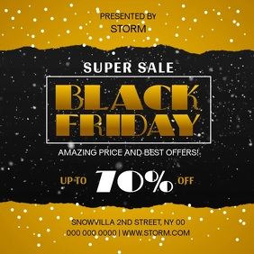 Black Friday Super Sale Square Video