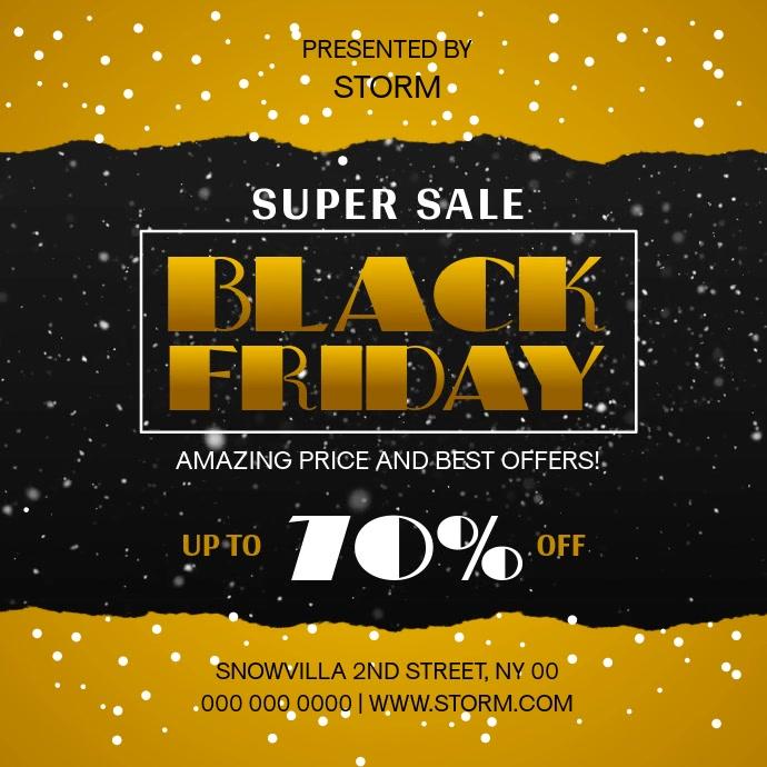 Black Friday Super Sale Square Video