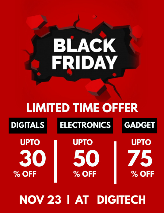 Black Friday Template Flyer (Letter pang-US)
