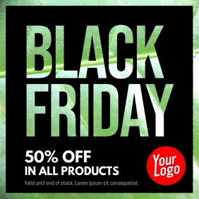 Black Friday texture video template Vierkant (1:1)