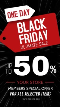 black friday video ad template Tampilan Digital (9:16)