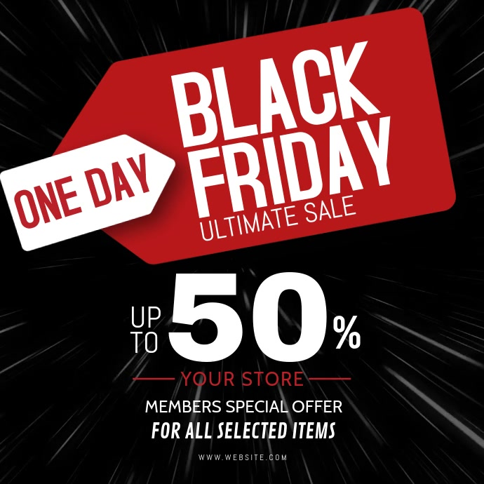 black friday video ad template