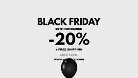 Black Friday Video Cover Header Shopping Ad