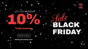 Black Friday Video Cover Sale Stars Night Ad