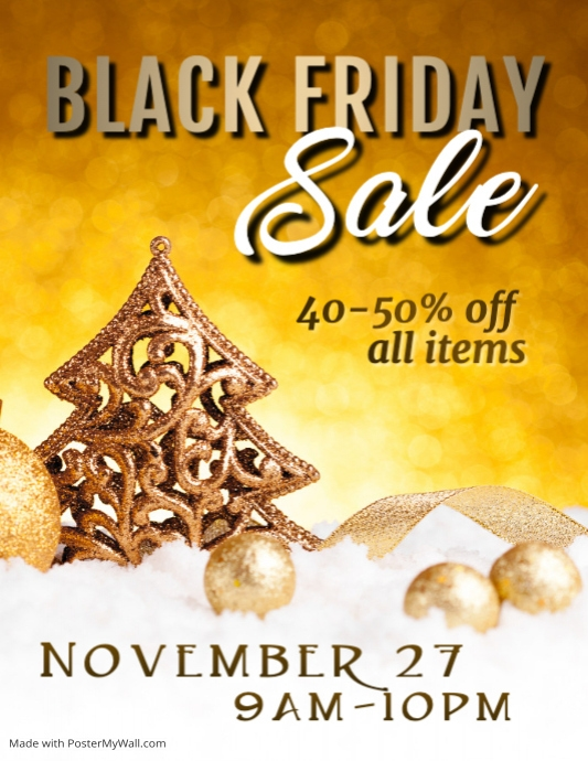 Black Friday Video Flyer Template  Postermywall