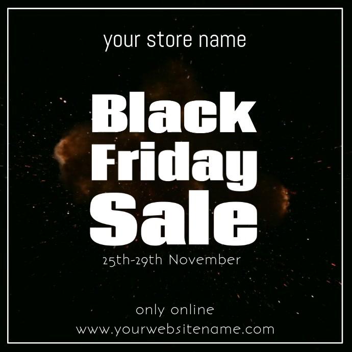 Black Friday video Template instagram post so