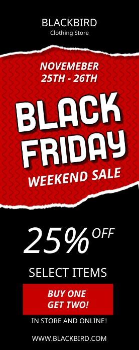 Black Friday Weekend Sale Banner template