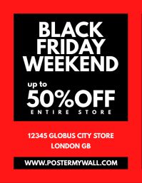 Black Friday Weekend Sale Flyer