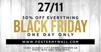 Black Friday White Gold Facebook Post Sale template