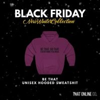 Black Friday Winter Sale Video Template Instagram Post