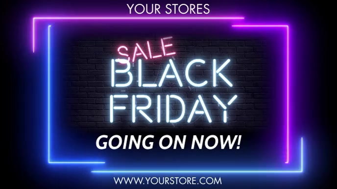 BLACK FRIDAY WITH OPTIONAL SOUND EFFECT & MUSIC Digitalt display (16:9) template