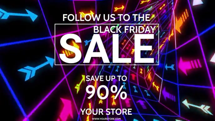 BLACK FRIDAY WITH OPTIONAL MUSIC Digital Display (16:9) template