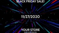 BLACK FRIDAY with optional sound effect Digitale Vertoning (16:9) template