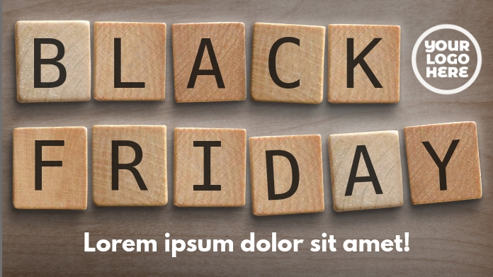 Black Friday Wooden Letters Ad Template