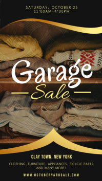 Black Garage Sale Advert Digital Display Design template