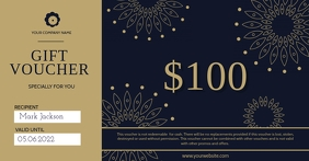 Black Gift Voucher Facebook Shared Image template